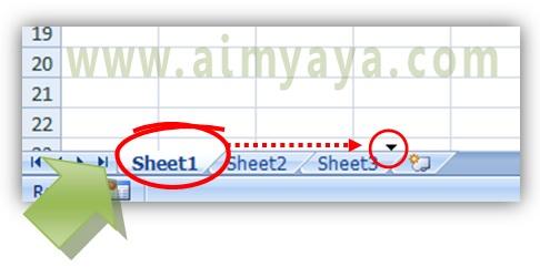 Gambar: cara memindahkan sebuah sheet di Microsoft Excel